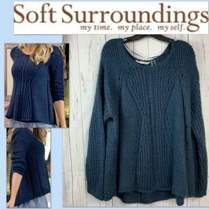 Soft Surroundings Lotta Sweater Women's 1X #58308
